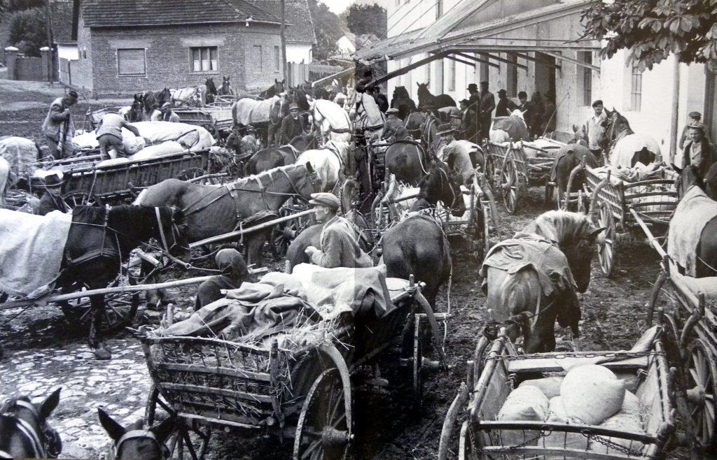 ОБАВЕЗА – Сељаци су колима доносили жито у млинове, као обавезан откуп