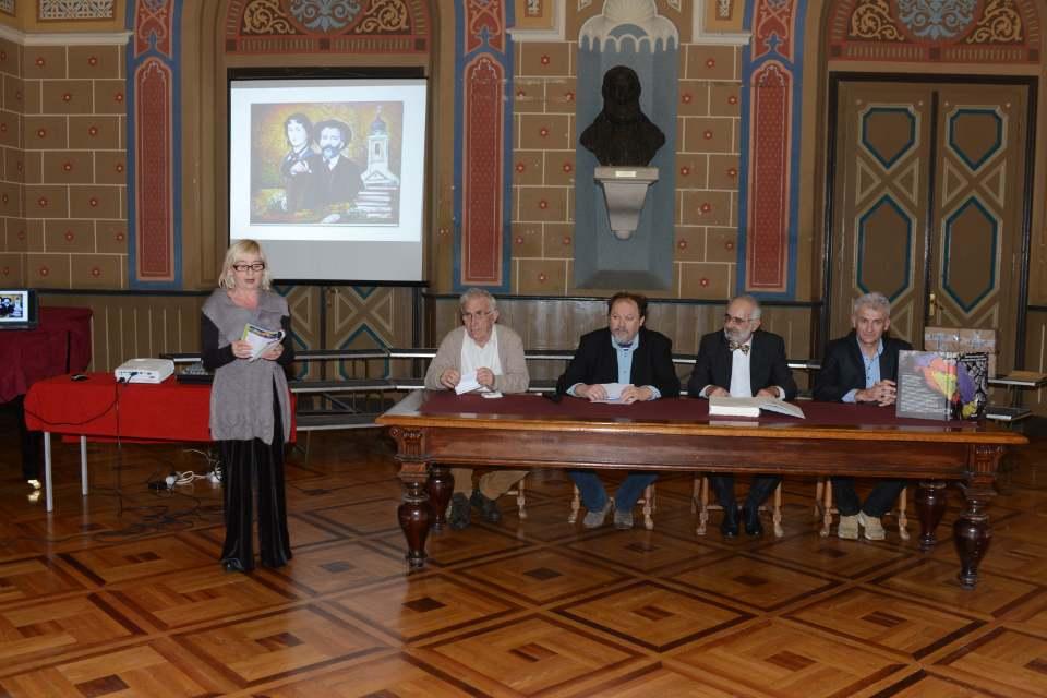 Водитељка др Јелена Квочка представила је уводничаре – Недељка Убовића, Младена Булута, др Жарка Димића и аутора Горана Маравића