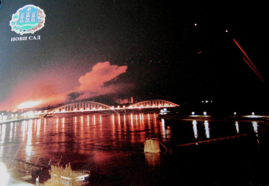 Бомбардовање рафинерије и Жежељевог моста -фото: Миљан Чубрановић