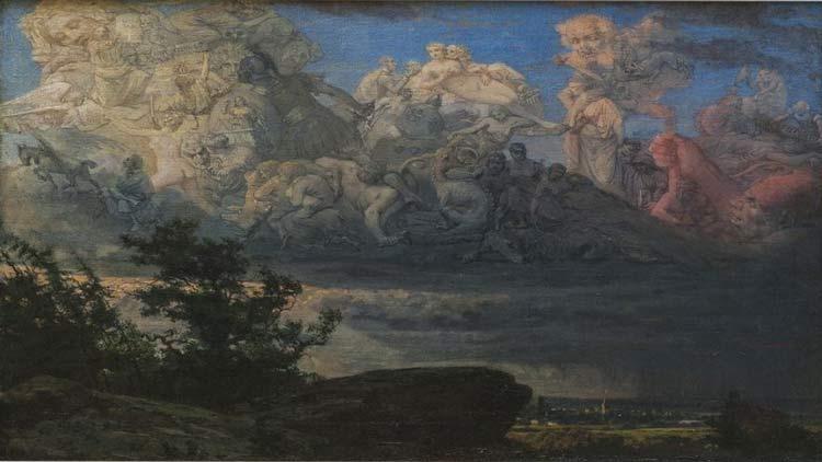 Урош Предић, Визија у облацима (1878)